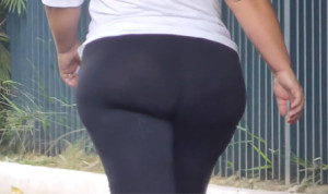 Milf BBW Black Leggings
